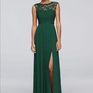 David's Bridal Bridesmaid Dress Juniper Green